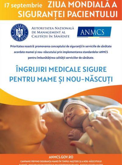 Poster ANMCS - ziua sigurantei pacientului